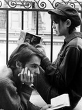 La Chinoise De Jeanlucgodard Avec Jean Pierre Leaud, Anne Wiazemsky, 1967 Foto