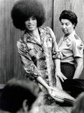 Angela Davis (B1944) American Black Activist, Here in 1972 During Her Trial Foto