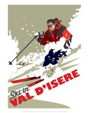 Val D'Isere - Dave Thompson Contemporary Travel Print Prints by Dave Thompson