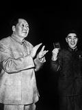 Mao Tse Toung and Lin Piao, C. 1966 Photo