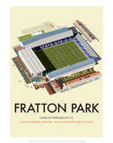 Fratton Park - Dave Thompson Contemporary Travel Print Poster by Dave Thompson