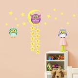 Owl Tree Star Adesivo de parede
