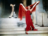 Audrey Hepburn on the Steps of the Louvre, in the Film 'Funny Face', 1957 Fotografia