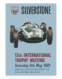 13th International Trophy Meeting - Silverstone Vintage Print Posters por Silverstone