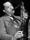 Jazz Saxophonist Lester Young (1909-1959) C. 1953 Photographie