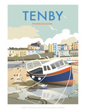Tenby - Dave Thompson Contemporary Travel Print Posters by Dave Thompson
