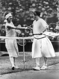 Women Finalist of Wimbledon Tennis Championship : Miss Froy and Suzanne Lenglen (L) in 1925 Foto
