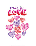 Crazy In Love - Tommy Human Cartoon Print Prints by Tommy Human