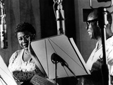 Ella Fitzgerald, American Jazz Singer with Louis Armstrong, Jazz Trumpet Player Photographie