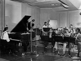 Buck Clayton, Charlie Parker, Dexter Gordon, Charles Thompson, Danny Barker, Jimmy Butts, JC Heard Foto
