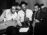 Duke Ellington with Ben Webster and Jimmy Hamilton at Carnegie Hall, 1948 Photographie
