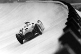On Monza Circuit, Qualifying Round for Cars for the Grand Prix Which Take Place on Sept 2, 1955 Foto