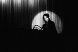 French Singer Barbara Onstage in a Cabaret, Paris 1971 Fotografia