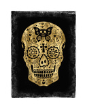 Day of the Dead in Gold & Black Giclee Print by Martin Wagner