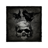 Skull with Crows Giclee Print by Martin Wagner