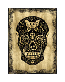 Day of the Dead in Black & Gold Giclee Print by Martin Wagner