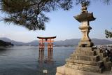 The Floating Miyajima Torii Gate of Itsukushima Shrine, Miyajima Island, Western Honshu, Japan Photographic Print by Stuart Black
