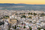 Cityscape of Granada Including the Iglesia Del Salvador, Granada, Andalucia, Spain Photographic Print by Chris Hepburn