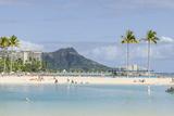 Waikiki Beach and Diamond Head, Waikiki, Honolulu, Oahu, Hawaii, United States of America, Pacific Photographic Print by Michael DeFreitas