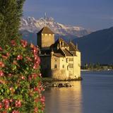 Chateau De Chillon (Chillon Castle) on Lake Geneva, Veytaux, Vaud Canton, Switzerland Fotografie-Druck von Stuart Black