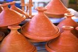 Tagine Pots, Tangier, Morocco, North Africa, Africa Fotografisk tryk af Neil Farrin