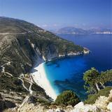 Myrtos Beach, North-West Coast, Kefalonia, Ionian Islands, Greek Islands, Greece Reproduction photographique par Stuart Black