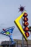 Oscar's Neon Martini Glass and Vegas Neon Signs Reproduction photographique par Michael DeFreitas
