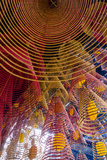 Spiral Incense Sticks at Ong Temple, Can Tho, Mekong Delta, Vietnam, Indochina Photographic Print by Yadid Levy