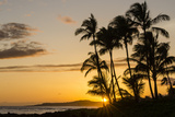 Sunset at Poipu Beach, Kauai, Hawaii, United States of America, Pacific Fotografie-Druck von Michael DeFreitas
