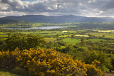 View over Llangorse Lake to Pen Y Fan from Mynydd Troed Photographic Print by Stuart Black
