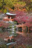 Japanese Temple Garden in Autumn, Daigoji Temple, Kyoto, Japan Reproduction photographique par Stuart Black