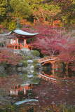 Japanese Temple Garden in Autumn, Daigoji Temple, Kyoto, Japan Fotografie-Druck von Stuart Black