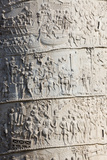 Detail from the Column of Trajan, Trajan Forum (Foro Traiano), Rome, Lazio, Italy Reproduction photographique par Stuart Black