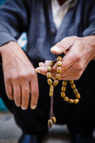 Hands Holding Worry Beads, Bethlehem, West Bank, Palestine Territories, Israel, Middle East Photographic Print by Yadid Levy
