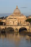 St. Peter's Basilica, the River Tiber and Ponte Sant'Angelo, Rome, Lazio, Italy Reproduction photographique par Stuart Black
