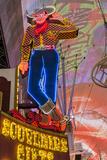 Vegas Vic Cowboy Neon Sign, Fremont Experience, Las Vegas Reproduction photographique par Michael DeFreitas