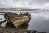 Wrecks of Fishing Boats, Near Salen, Isle of Mull Stampa fotografica di Gary Cook