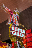 Cowgirl Glitter Gulch Neon Sign Reproduction photographique par Michael DeFreitas