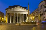 The Pantheon and Piazza Della Rotonda at Night, Rome, Lazio, Italy Reproduction photographique par Stuart Black