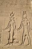 Relief of Cleopatra and Horus, Temple of Hathor, Dendera, Egypt, North Africa, Africa Impressão fotográfica por Richard Maschmeyer
