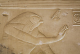 Bas-Relief of the God Horus, Temple of Seti I, Abydos, Egypt, North Africa, Africa Photographic Print by Richard Maschmeyer