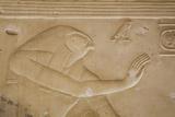 Bas-Relief of the God Horus, Temple of Seti I, Abydos, Egypt, North Africa, Africa Impressão fotográfica por Richard Maschmeyer