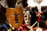 Traditional Mask Stall in Praca Do Rossio, Lisbon, Portugal Stampa fotografica di Ben Pipe