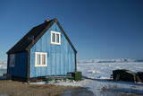 Colourful Wooden House in the Village of Qaanaaq Photographic Print by Louise Murray
