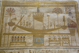 Bas-Relief of Sacred Barque Boat, Temple of Seti I, Abydos, Egypt, North Africa, Africa Photographic Print by Richard Maschmeyer