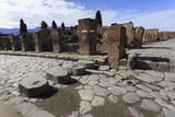 Cobbled Street Stepping Stones, Roman Ruins of Pompeii, UNESCO World Heritage Site, Campania, Italy Photographic Print by Eleanor Scriven