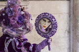 People in Masks and Costumes, Carnival, Venice, Veneto, Italy, Europe Reproduction photographique par Jean Brooks