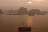 Sunrise at Halong Bay, UNESCO World Heritage Site, Vietnam, Indochina, Southeast Asia, Asia Photographic Print by Rolf Richardson