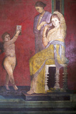 The Baccantis before the Feast in the Triclinium in the Villa Dei Misteri, Pompeii, Campania, Italy Fotografisk tryk af Oliviero Olivieri