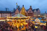 Christmas Market in Romerberg, Frankfurt, Germany, Europe Photographic Print by Miles Ertman